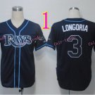 Evan Longoria Jersey Black Tampa Bay Rays Cool Base Uniforms Style 1