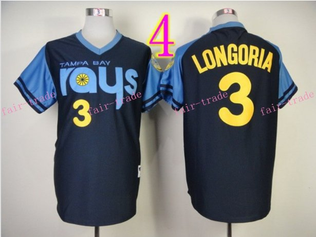 Evan Longoria Jersey Black Tampa Bay Rays Cool Base Uniforms Style 2