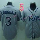 Evan Longoria Jersey Gray Tampa Bay Rays Cool Base Uniforms Style 1