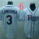 Evan Longoria Jersey White Tampa Bay Rays Cool Base Uniforms