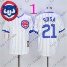 Sammy Sosa Jersey Chicago Cubs 21# Baseball Jersey, Stitched High Quality White Style 1