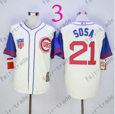 Sammy Sosa Jersey Chicago Cubs 21# Baseball Jersey, Stitched High Quality White Style 3