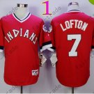 New Indians 1978 Throwback Jerseys 7 Kenny Lofton Stitched