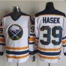 Mens #39 Dominik Hasek Ice Hockey Jersey Buffalo Sabres Black Premier Stitched 1999 White