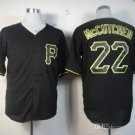 Pittsburgh Pirates #22 Andrew McCutchen 2015 Baseball Jersey  Authentic Stitched Black Style 2