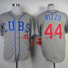 chicago cubs #44 anthony rizzo 2015 Baseball Jersey Rugby Jerseys Authentic Stitched Gray Style 1