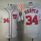 Bryce Harper Jersey 10th patch Authentic Washington Nationals Cool Base Jerseys White