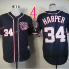 Bryce Harper Jersey 10th patch Authentic Washington Nationals Cool Base Jerseys Black