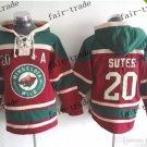 minnesota wild #20 Ryan Suter Hooded Stitched Old Time Hoodies Sweatshirt Jerseys