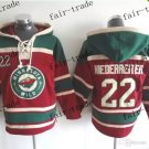 minnesota wild #22 Nino Niederreiter Hooded Stitched Old Time Hoodies Sweatshirt Jerseys
