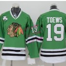 Chicago #19 Jonathan Toews Youth Ice Hockey Jerseys Kids Boys Stitched Jersey Green