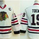 Chicago #19 Jonathan Toews Youth Ice Hockey Jerseys Kids Boys Stitched Jersey White 1