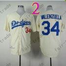 34 Fernando Valenzuela Jersey Vintage Los Angeles Dodgers Jersey Cream 1981 Throwback