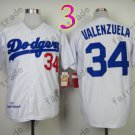 34 Fernando Valenzuela Jersey Vintage Los Angeles Dodgers Jersey White 1981 Throwback Style 1
