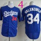 34 Fernando Valenzuela Jersey Vintage Los Angeles Dodgers Jersey Blue 1981 Throwback