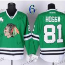 #81 Marian Hossa Chicago Blackhawks Ice Hockey Home Green Mens