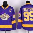 New York Rangers 99 Wayne Gretzky Jerseys Hockey St.Louis Blues Los Angeles Kings Vintage Purple S1