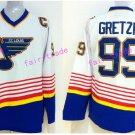 New York Rangers 99 Wayne Gretzky Jerseys Hockey St.Louis Blues Los Angeles Kings Vintage White S2