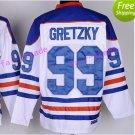 New York Rangers 99 Wayne Gretzky Jerseys Hockey St.Louis Blues Los Angeles Kings Vintage White S4