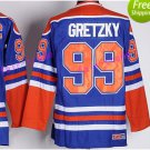 New York Rangers 99 Wayne Gretzky Jerseys Hockey St.Louis Blues Los Angeles Kings Vintage Blue S2