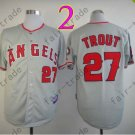 2015 Mike Trout Jersey Gray Cool Base Los Angeles Angels Jerseys Stitched Style 1