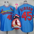 # 45 Bob Gibson Jersey Blue 1967 Hemp Jerseys Vintage Style 2