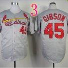 # 45 Bob Gibson Jersey Gray1967 Hemp Jerseys Vintage