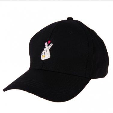 2017 Fashion Unisex Casual Sun Cap Baseball Cap Finger Embroidery Snapback Cap Hats For Women Black
