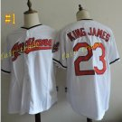 cleveland indians  #23 King James throwback White 2016 Baseball Jersey Authentic Stitched