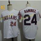 cleveland indians #24 manny ramirez throwback White 2016 Baseball Jersey Authentic Stitched