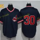 cleveland indians #30 Tyler Naquin throwback Black 2016 Baseball Jersey Authentic Stitched