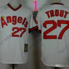 2015 Mike Trout Jersey White Cool Base Los Angeles Angels Jerseys Stitched Style 1