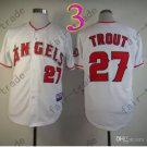 2015 Mike Trout Jersey White Cool Base Los Angeles Angels Jerseys Stitched Style 2
