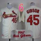 #45 Bob Gibson Jersey 1967 Hemp Cream Jerseys Vintage Style 2