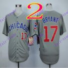 2016 Majestic Official Cool Base Stitched Chicago Cubs #17 Kris Bryant Gray Baseball Jerseys Style 1