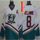 Cord Anaheim Ducks #8 Teemu Selanne White Hockey Jersey Stitched