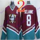 Cord Anaheim Ducks #8 Teemu Selanne Red Hockey Jersey Stitched