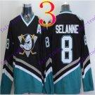 Cord Anaheim Ducks #8 Teemu Selanne Black Hockey Jersey Stitched
