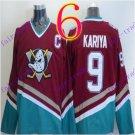 Cord Anaheim Ducks #9 Paul Kariya Red Hockey Jersey Stitched