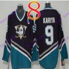 Cord Anaheim Ducks #9 Paul Kariya Purple Hockey Jersey Stitched