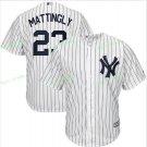 New York Yankees Baseball Jerseys 23 Don Mattingly  Ruth Retirement Patch White