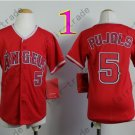 Youth Los Angeles Angels Jersey 5# Albert Pujols Red Kid