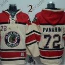 Chicago Blackhawks #72 Artemi Panarin Hockey Hooded Stitched Old Time Hoodies Sweatshirt Jerseys