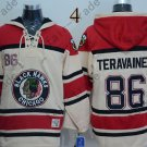 Chicago Blackhawks #86 teuvo teravainen Hockey Hooded Stitched Old Time Hoodies Sweatshirt Jerseys