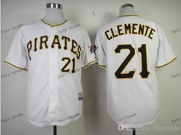 Pittsburgh Pirates 21 Roberto Clemente 2015 Baseball White Rugby Jerseys Authentic Stitched  Style 2