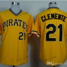 Pittsburgh Pirates 21 Roberto Clemente 2015 Baseball Yellow Rugby Jerseys Authentic Stitched