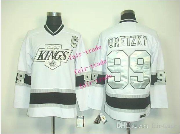 los angeles kings #99 wayne gretzky 2015 Ice Winter Jersey White Hockey Jerseys Authentic Stitched