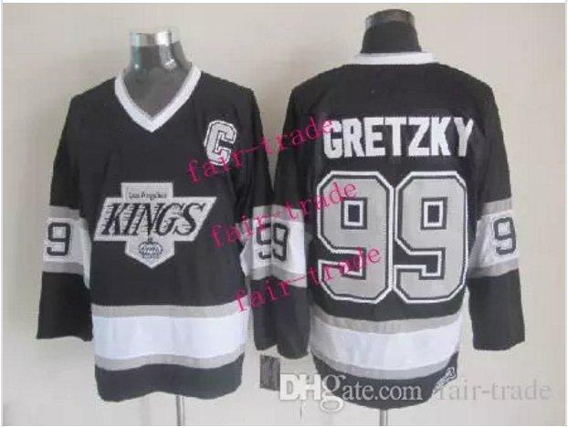los angeles kings #99 wayne gretzky 2015 Ice Winter Jersey Black Hockey Jerseys Authentic Stitched