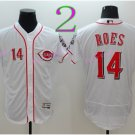 Cincinnati Reds 14 Pete Rose Flexbase Vintage Throwback Pullover White 1976 Cooperstown Jersey 1