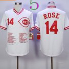 Cincinnati Reds 14 Pete Rose Flexbase Vintage Throwback Pullover White 1976 Cooperstown Jersey 3